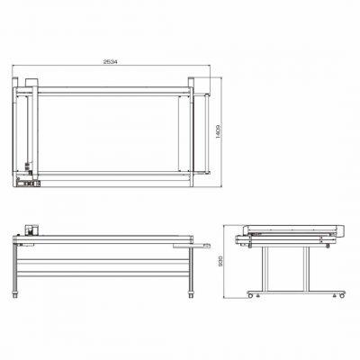 FCX2000 Flatbäddsplotter - Vakuumbord - 1800x920 mm - Graphtec