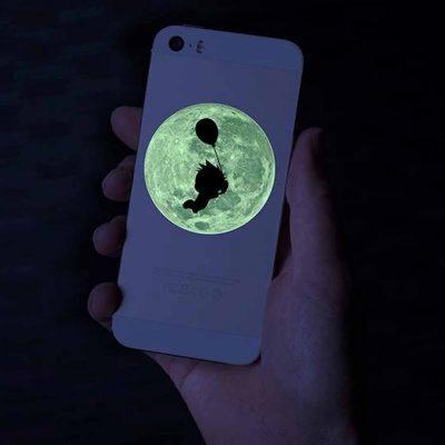 Klistermärken/Stickers - Glow-in-the-Dark - 2 ark - Silhouette