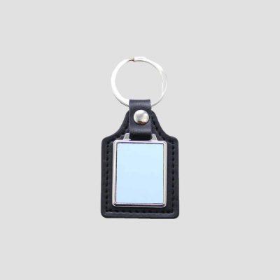 Nyckelring för sublimering - Fyrkantig - Läder - Technotape