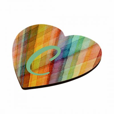 Glasunderlägg för sublimering - Hjärtformad med kork - Unisub