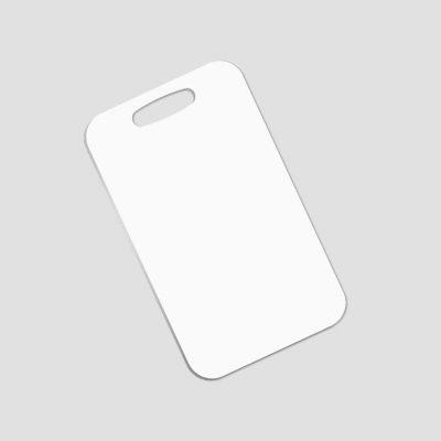 Bagagetag för sublimering - Rektangulär - Aluminium - Unisub