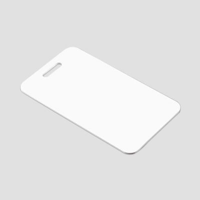Bagagetag för sublimering - Rektangular - Vit/aluminium - Unisub