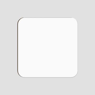Glasunderlägg för sublimering - Fyrkantig - Vit blank yta - Unisub