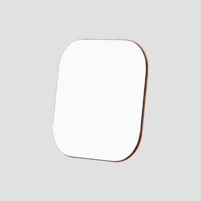 Glasunderlägg för sublimering - Fyrkantigt - Vit/hårdpapp - Unisub
