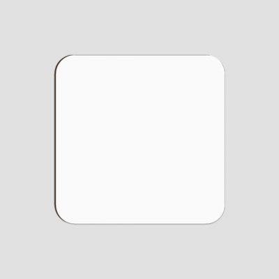 Glasunderlägg för sublimering - Fyrkantig - Vit matt yta - Unisub
