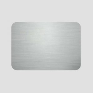 Namnbricka för sublimering - Borstad aluminium - Unisub