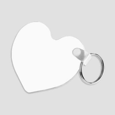 Nyckelring för sublimering - Plast - Hjärtformad 57 x 63 x 2.29 mm - Unisub